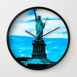 Statue of Liberty Blue Wall Clock