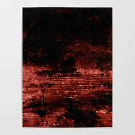 Burnt Sienna and Black Grunge Poster