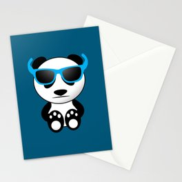 Cool and cute panda bear with sunglasses Stationery Cards