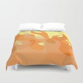 Pastel Flames Duvet Cover