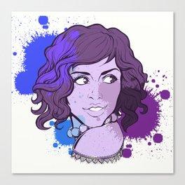 Portrait tache encre Canvas Print