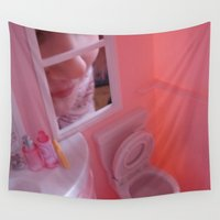 barbie Wall Tapestries featuring Barbie Poops by Charley Pallos