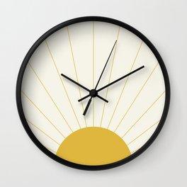 Sunrise / Sunset Minimalism Wall Clock