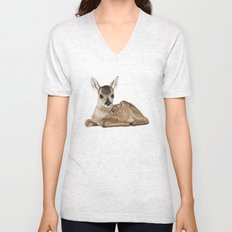 Small fawn Unisex V-Neck