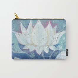 Abstract Lotus Art Acrylic Painting Reproduction by Kimberly Schulz Carry-All Pouch