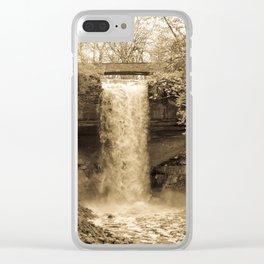 Minnehaha Falls - Sepia Clear iPhone Case