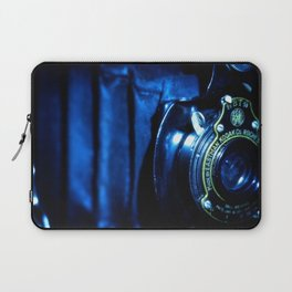 Capturing Yesteryear a vintage Kodak folding camera photograph Laptop Sleeve