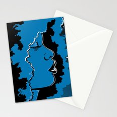 Jazz singer Stationery Cards