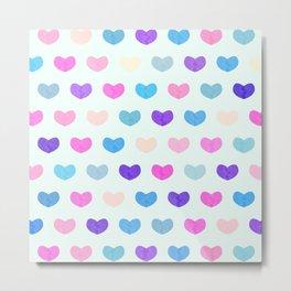 Colorful Cute Hearts II Metal Print