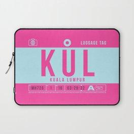 Luggage Tag B - KUL Kuala Lumpur Malaysia Laptop Sleeve