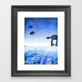 Empire Strikes Back Minimalist Design Framed Art Print