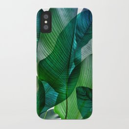 Palm leaf jungle Bali banana palm frond greens iPhone Case