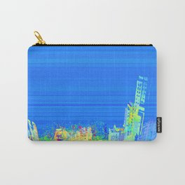 Colorful building perspective city eagle view over blue sky 003 Carry-All Pouch