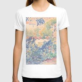 The Artist's Garden at Saint-Clair by Henri-Edmond Cross 1904-5, French T-shirt