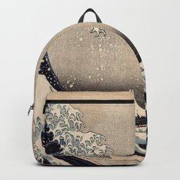 Hokusai the wave 1-hokusai,manga,fugi,japan,kanagawa,wave,edo,mount fuji Backpack