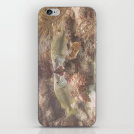 The fine line between love and hate iPhone Skin
