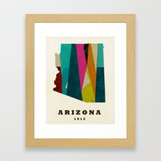 arizona state map modern Framed Art Print