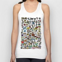 the 100 Tank Tops featuring 100 things by Michelle Behar