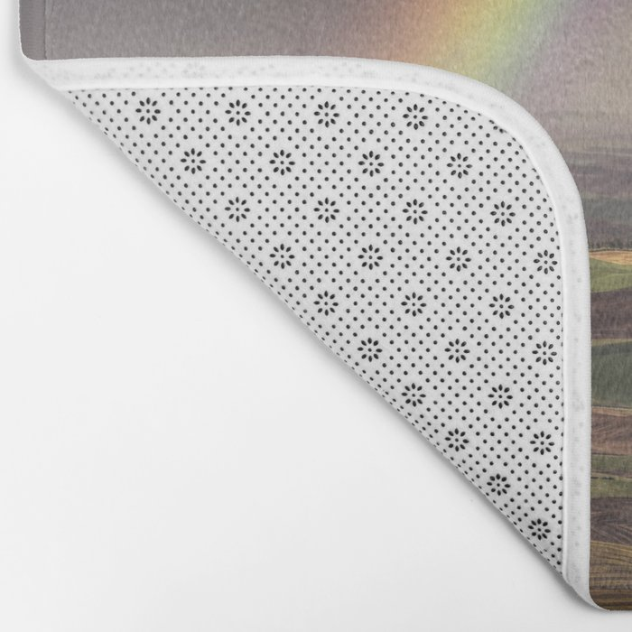 Rainbow over the Palouse Bath Mat