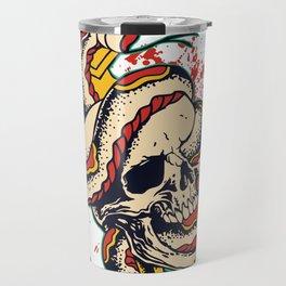 Skull and Snake Flash Art Travel Mug