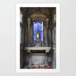 Blue Mausoleum Art Print
