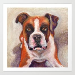 Rascal the Boxer Art Print