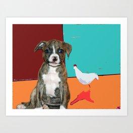 Little Bo Peep meets Donald Art Print