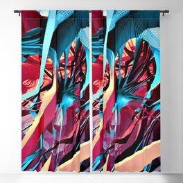 Fractal Art - Purple Spiderwebs Blackout Curtain