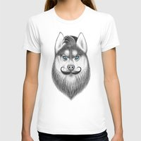 husky T-shirts featuring bearded husky by NikKor