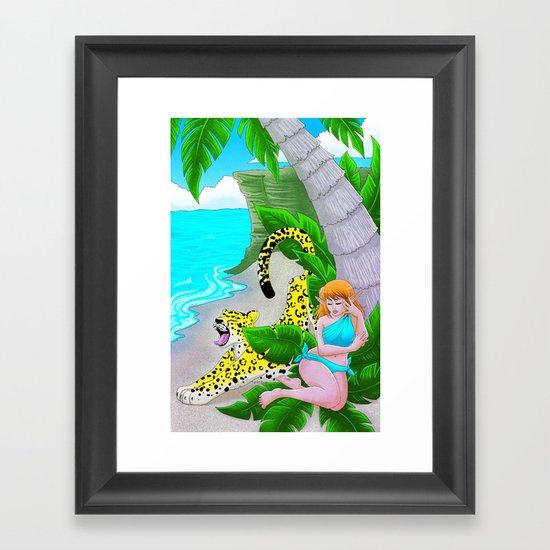 Pensive in Tropical Framed Art Print