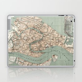 Map of Venice - 1886 Laptop & iPad Skin