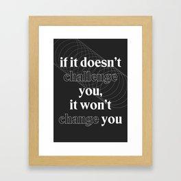 Motivational Quotes Framed Art Print