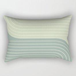 Two Tone Line Curvature XXX Rectangular Pillow