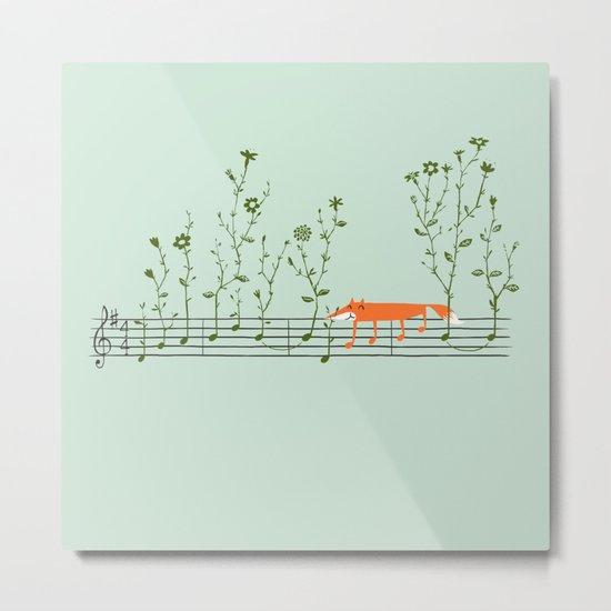 Happy Tune Metal Print