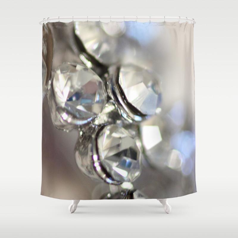 Sparkle Justart C Macro Photography Shower Curtain