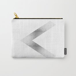 Arrow in Silver Carry-All Pouch
