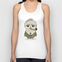 tolkien Tank Tops featuring Greater-Spotted British Authors - Tolkien by Scott Tyrrell