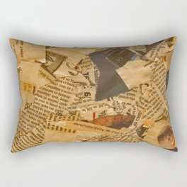 Old News Rectangular Pillow