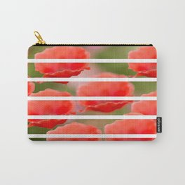 Poppies with white stripes #decor #society6 Carry-All Pouch