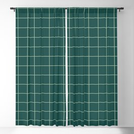 Forest Grid Blackout Curtain