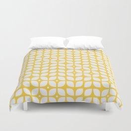 Mid century modern yellow geometric Duvet Cover