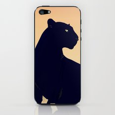 Sunset Black Panther iPhone & iPod Skin