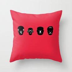 paulie, junior, tony & silvio Throw Pillow