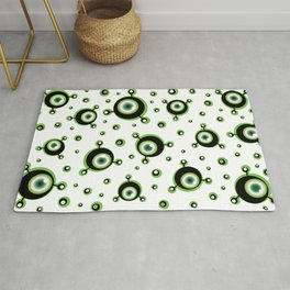 Justified Paranoia Green Rug