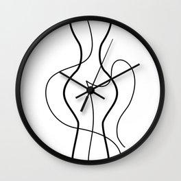 Minimal Line Art Woman Body  #society6 #tapestry #stickers #artprint Wall Clock