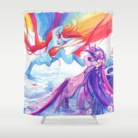 mlp Shower Curtains featuring MLP by Cari Corene