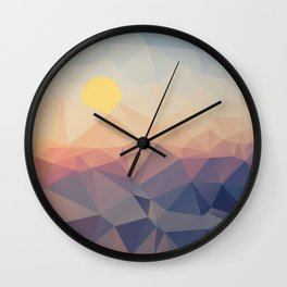 Every Day is A New Chance motivational art  Wall Clock