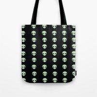 aliens Tote Bags featuring Aliens  by gracekansai