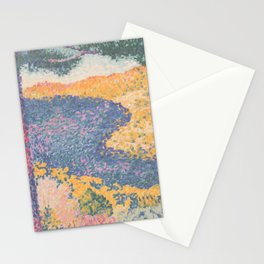 Valley with Fir (Shade on the Mountain) by Henri-Edmond Cross1909, French Stationery Cards