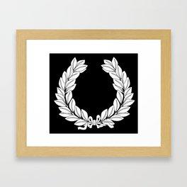 Laurel Half Tone Framed Art Print